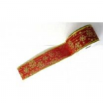 XMAS RIBBON RED/GOLD RIB012